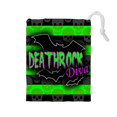 Deathrock Diva Drawstring Pouch (Large)