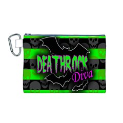 Deathrock Diva Canvas Cosmetic Bag (Medium)