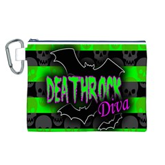 Deathrock Diva Canvas Cosmetic Bag (large)