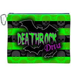 Deathrock Diva Canvas Cosmetic Bag (XXXL)