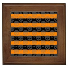 Deathrock Stripes Framed Ceramic Tile