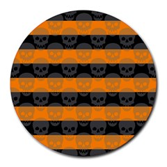 Deathrock Stripes 8  Mouse Pad (round)