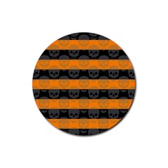 Deathrock Stripes Drink Coasters 4 Pack (round)