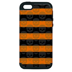 Deathrock Stripes Apple Iphone 5 Hardshell Case (pc+silicone)