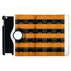 Deathrock Stripes Apple Ipad 3/4 Flip 360 Case