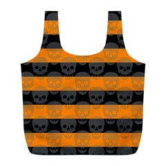 Deathrock Stripes Reusable Bag (L)