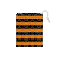 Deathrock Stripes Drawstring Pouch (Small)