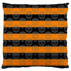 Deathrock Stripes Large Flano Cushion Case (One Side)