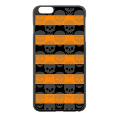 Deathrock Stripes Apple iPhone 6 Plus Black Enamel Case