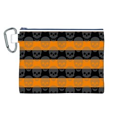 Deathrock Stripes Canvas Cosmetic Bag (Large)
