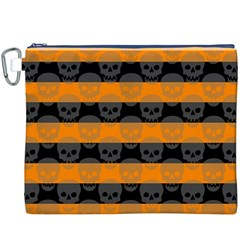 Deathrock Stripes Canvas Cosmetic Bag (XXXL)