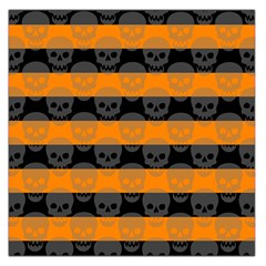 Deathrock Stripes Large Satin Scarf (Square)