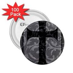 Goth Brocade Cross 2 25  Button (100 Pack)