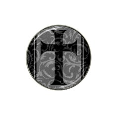 Goth Brocade Cross Golf Ball Marker 10 Pack (for Hat Clip)