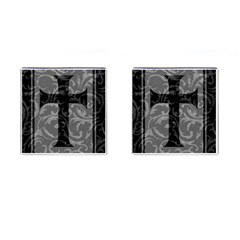 Goth Brocade Cross Cufflinks (square)