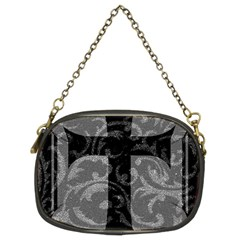 Goth Brocade Cross Chain Purse (two Sided)