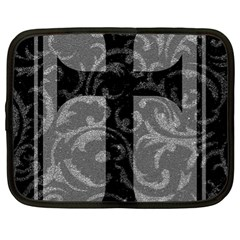 Goth Brocade Cross Netbook Sleeve (xl)