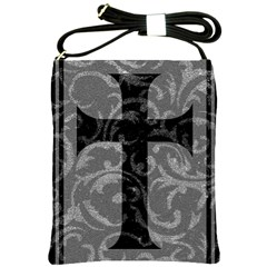 Goth Brocade Cross Shoulder Sling Bag