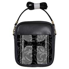 Goth Brocade Cross Girl s Sling Bag