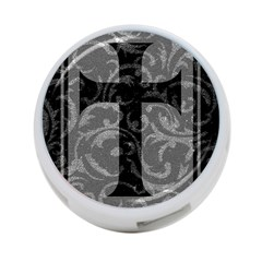 Goth Brocade Cross 4 Port Usb Hub (one Side)