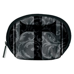 Goth Brocade Cross Accessory Pouch (Medium)