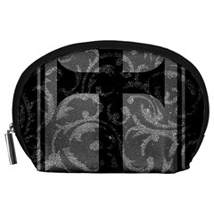 Goth Brocade Cross Accessory Pouch (Large)