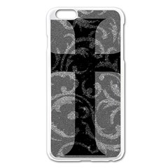 Goth Brocade Cross Apple iPhone 6 Plus Enamel White Case