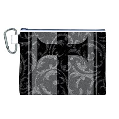 Goth Brocade Cross Canvas Cosmetic Bag (Large)