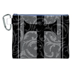 Goth Brocade Cross Canvas Cosmetic Bag (xxl)