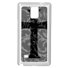 Goth Brocade Cross Samsung Galaxy Note 4 Case (white)