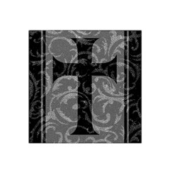 Goth Brocade Cross Satin Bandana Scarf