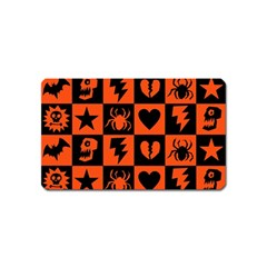 Goth Punk Checkers Magnet (name Card)