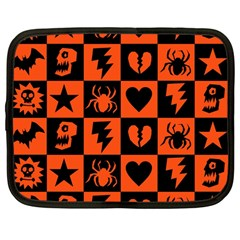 Goth Punk Checkers Netbook Sleeve (large)
