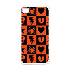 Goth Punk Checkers Apple Iphone 4 Case (white)