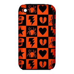 Goth Punk Checkers Apple Iphone 3g/3gs Hardshell Case (pc+silicone)