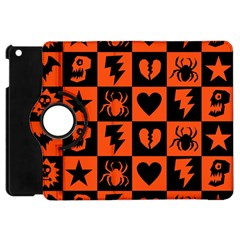 Goth Punk Checkers Apple Ipad Mini Flip 360 Case