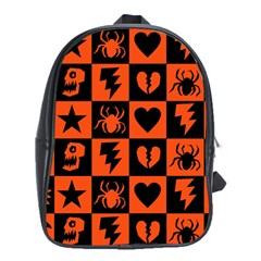 Goth Punk Checkers School Bag (xl)