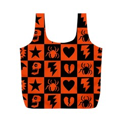 Goth Punk Checkers Reusable Bag (m)