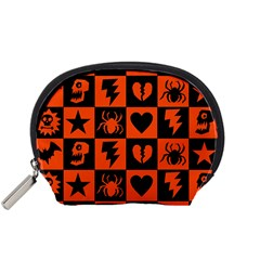 Goth Punk Checkers Accessory Pouch (small)