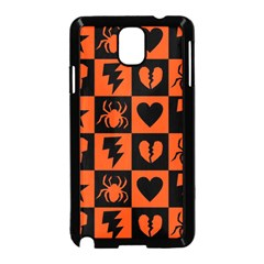 Goth Punk Checkers Samsung Galaxy Note 3 Neo Hardshell Case (Black)