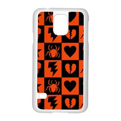 Goth Punk Checkers Samsung Galaxy S5 Case (White)