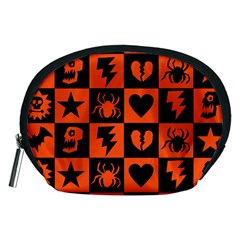 Goth Punk Checkers Accessory Pouch (medium)