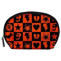 Goth Punk Checkers Accessory Pouch (Large)
