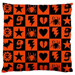 Goth Punk Checkers Large Flano Cushion Case (one Side)