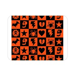 Goth Punk Checkers Double Sided Flano Blanket (mini)