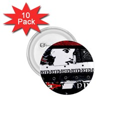Punk Chick 1 75  Button (10 Pack)