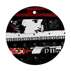 Punk Chick Round Ornament (two Sides)