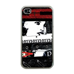 Punk Chick Apple Iphone 4 Case (clear)