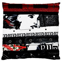 Punk Chick Large Cushion Case (two Sided)