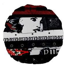 Punk Chick Large 18  Premium Round Cushion